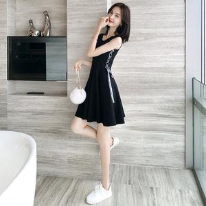 256 矮夏装搭配显高甜美气质仙女超仙2019年流行裙子小个子连衣裙
