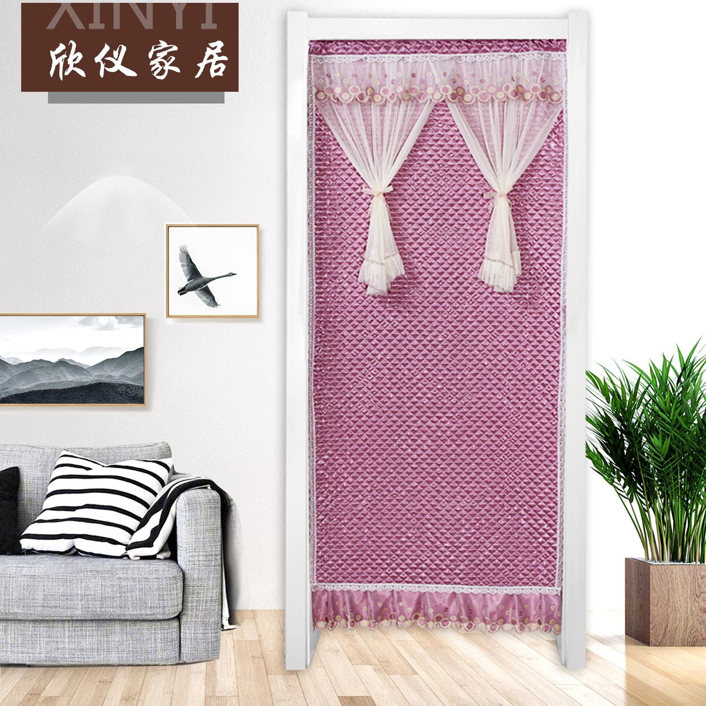 изпрати род памук завеса и непрозрачен климатици изолация завеса топли изолация звукоизолирана врата през есента и зимата на завесата.
