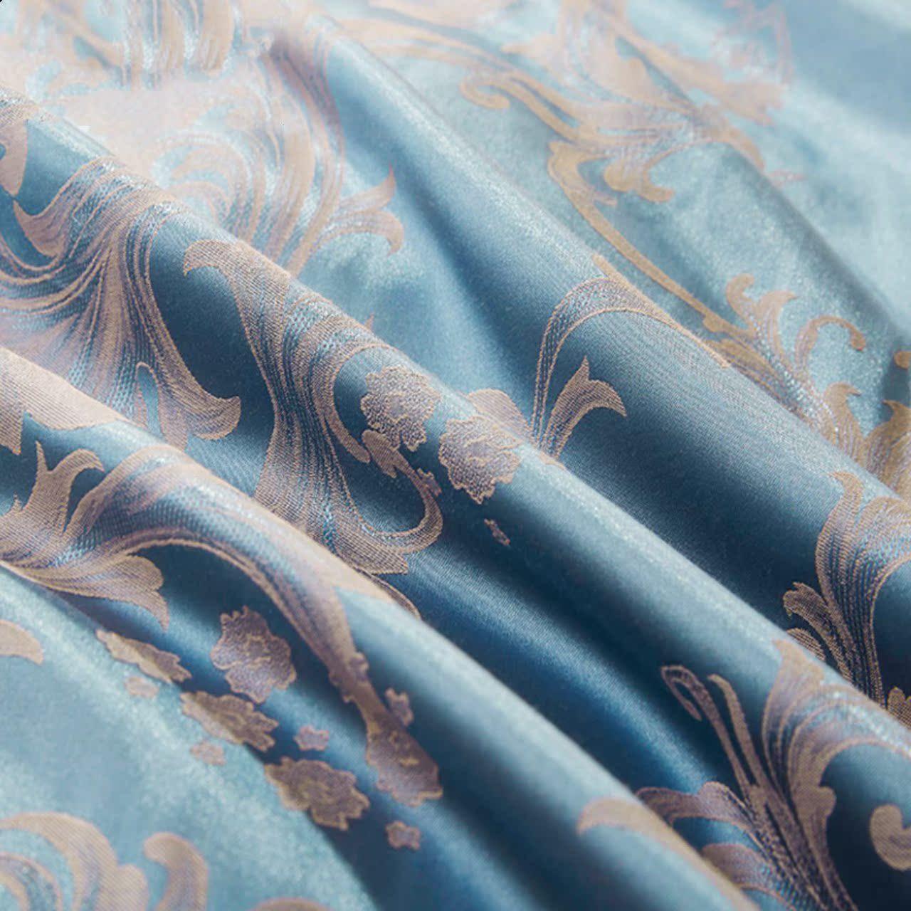 European Cotton Satin Jacquard Silk four piece 1.5m1.8m bedding cotton embroidery double quilt