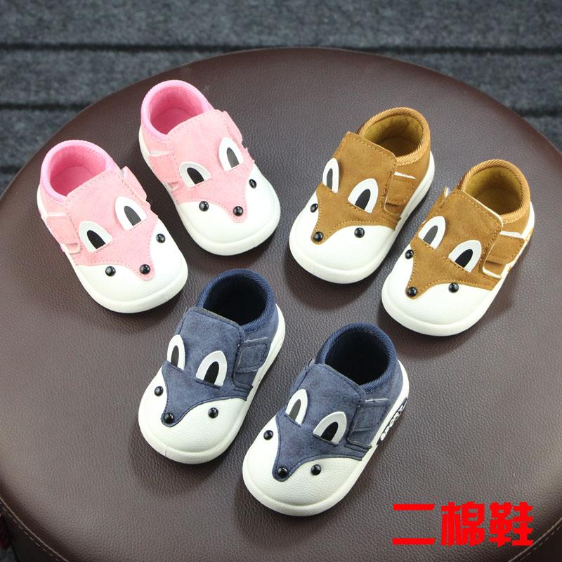 软底宝宝鞋学步鞋冬季婴儿鞋男童二棉鞋1-2岁鞋女宝宝加绒棉鞋