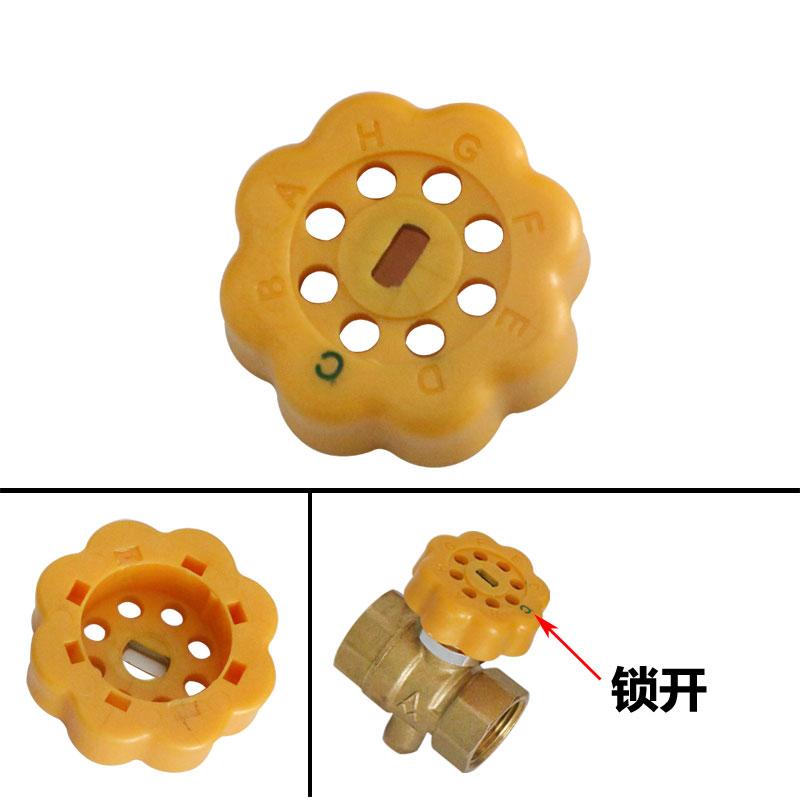 Genuine locking valve 296A brass magnetic lock ball valve temperature measuring anti theft ball valve master valve anti stealing water valve