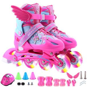 瑞士儿童溜冰鞋轮滑鞋玩具八轮全闪套装