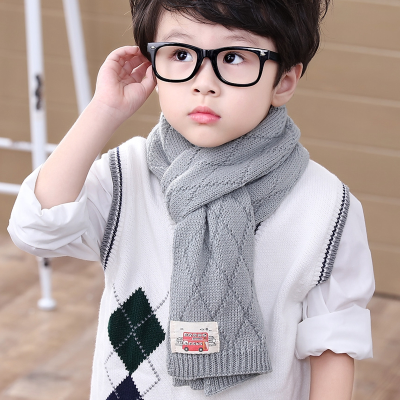 天天特价韩版潮男童秋冬季毛线围巾长儿童宝宝保暖针织薄款围脖女
