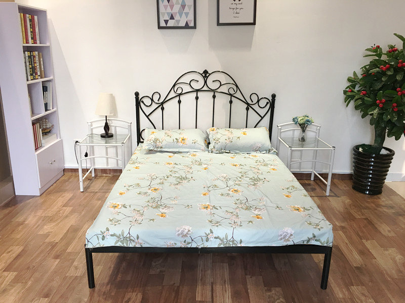 European style iron bed bed, double bed, children's bed, simple dormitory bed, simple modern 1.5 meters package