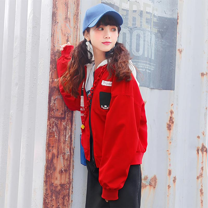 Áo khoác/Áo jacket/Áo nữ mốt mới mùa xuân kiểu dáng rộng rãi phong cách học sinh