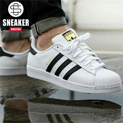 阿迪达斯Adidas Superstar三叶草金标贝壳头休闲小白板鞋C