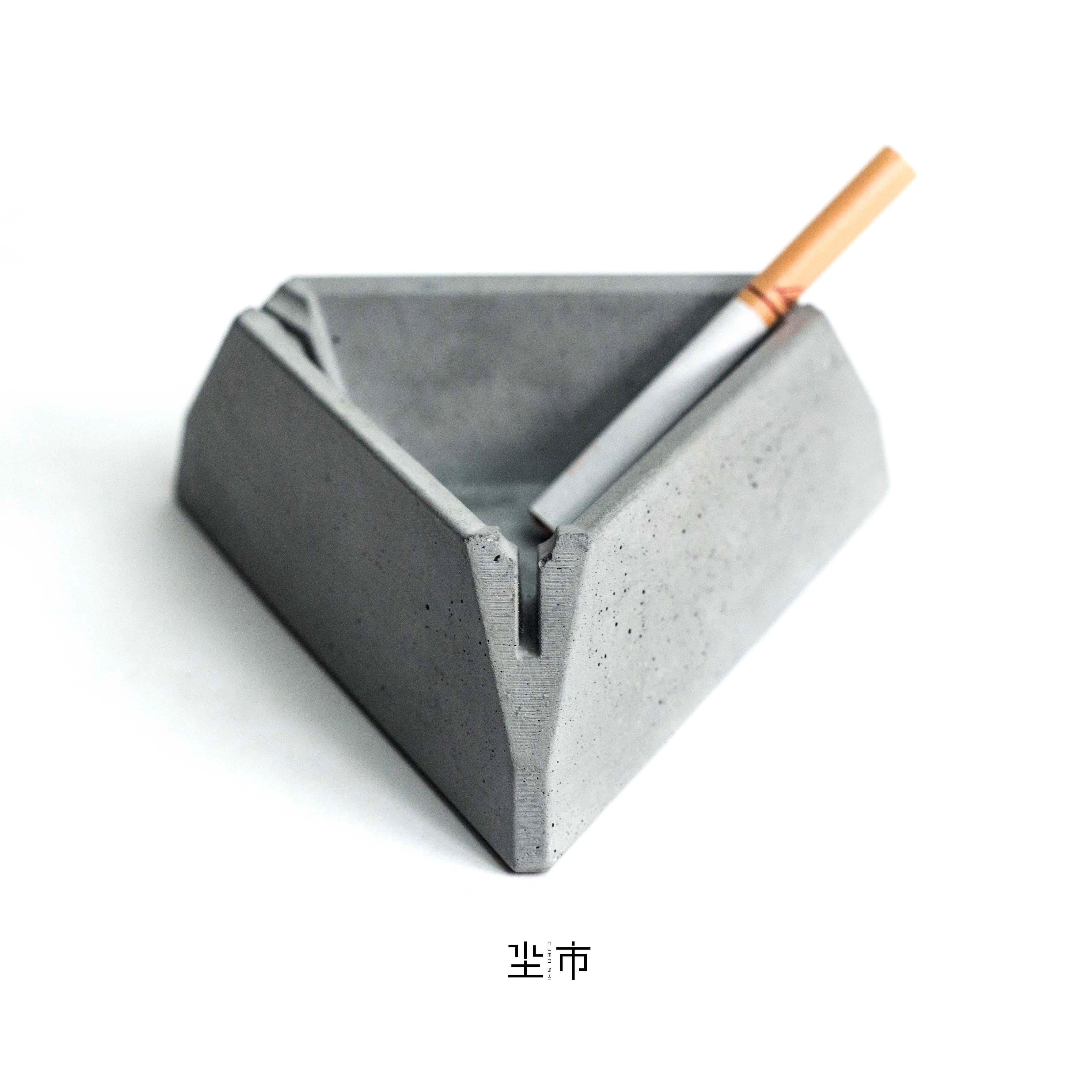 三體三體|水泥煙灰缸混凝土容器民宿酒店軟裝擺件設計款