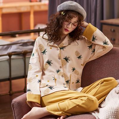 春秋季睡衣女长袖纯棉韩版甜美可爱夏季薄款家居服可外穿两件套装