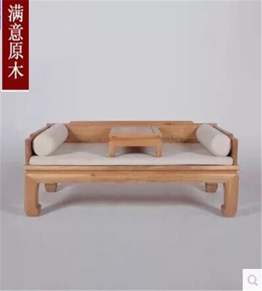 楡免漆の家具材の古い明清寝込んだ新中国会所茶屋羅漢禪の教えにも少なからず原木ソファベッド