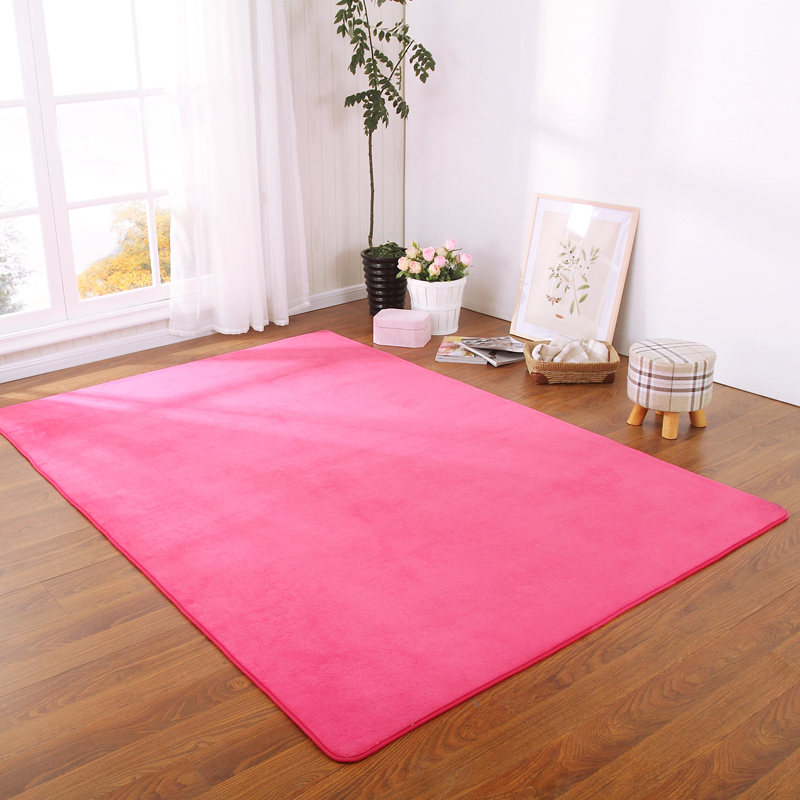 Simple modern coral fleece living room table mats covered with tatami sofa custom bedroom bed rug style