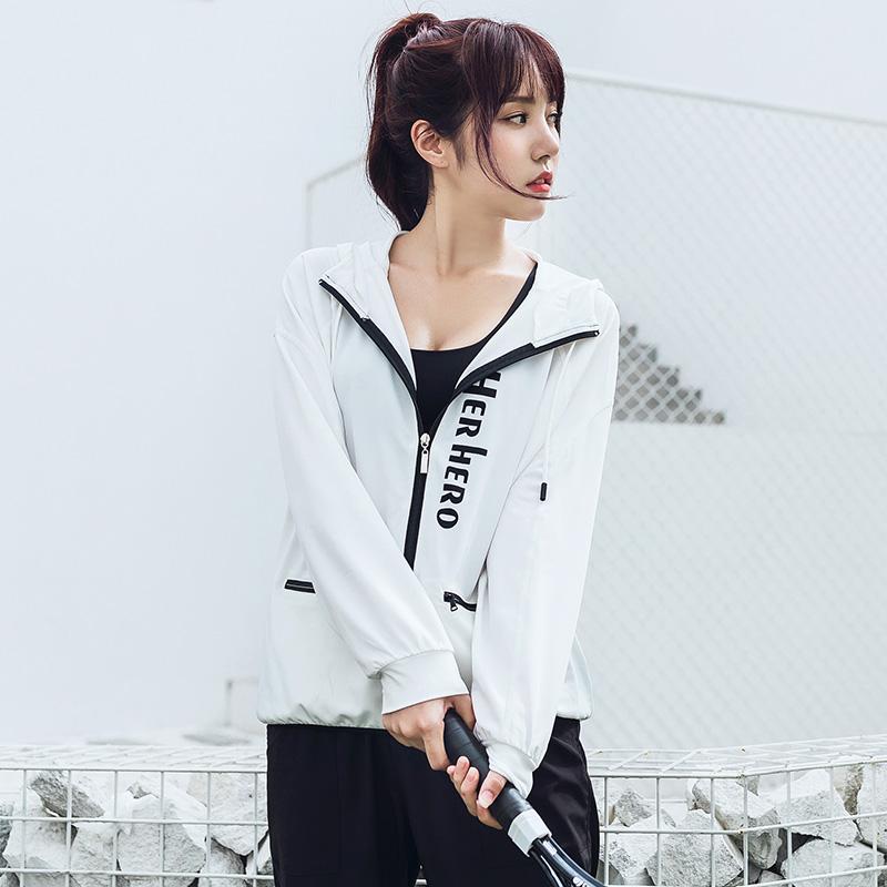 Im frühjahr und im Herbst, koreanische vermummte Frauen Mantel yoga - Bewegung lässige strickjacke Groß - lockerung der fitness - Lauf Schnell trocknen