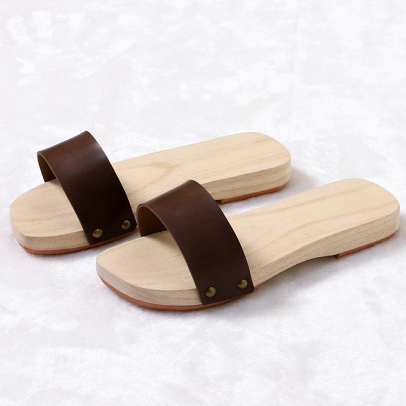 木拖鞋男女款情侣拖鞋 木鞋 男士木屐 女木屐拖鞋 木板鞋