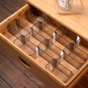抽屉收纳分隔板自由组合内裤袜子格子整理收纳盒厨房衣柜隔断神器