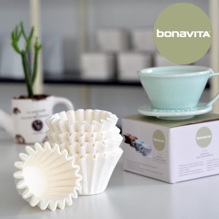 小號1-2人份bonavita next wave大號蛋糕濾紙白色漂白濾紙 商用100片簡裝