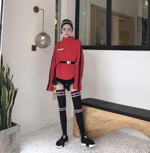 实拍 日系女中筒袜学院风半截半腿堆堆小腿高筒长袜子韩国潮0001#