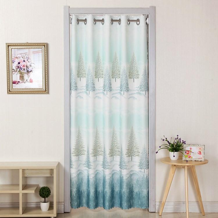 La tela de cortina de humo para el armario de la cocina persianas cortinas de aire acondicionado de la prolongación de la partición