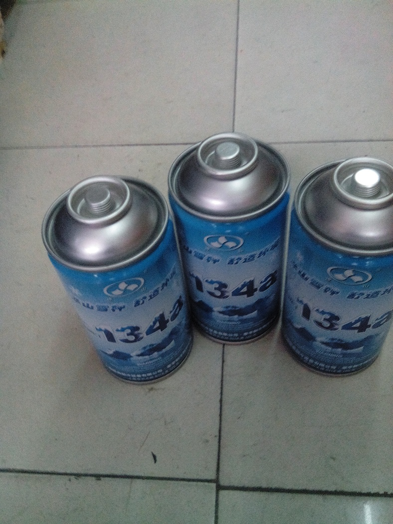 Automotive air conditioning refrigerant refrigerator water. Snow seed. Refrigerant. R134A