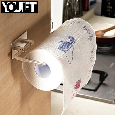 德国悠乐 厨房纸巾架不锈钢厨用卷纸架纸巾座免钻孔无痕3m粘钩
