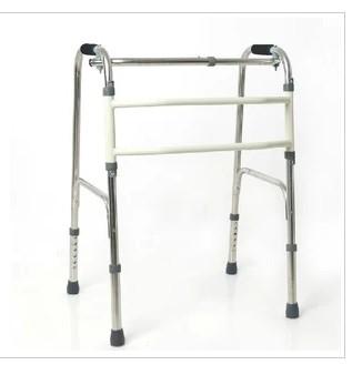 den gamle mannen walker walker walker rostfritt stål för personer med funktionshinder kan vikas fyra äldre raketerna.