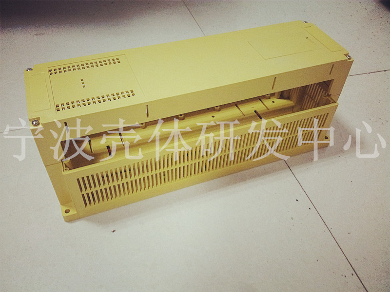 PLC electronic casing plastic industrial control box luxury type frequency converter guide rail shell 110*110*300mm