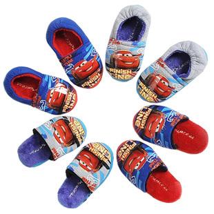 Автомобили осень/зима мальчиков и бархат дом Тапочки новые Тапочки детские Маккуин обувь