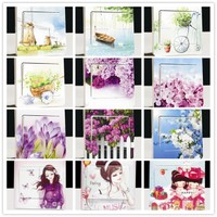 Wall switch attached to Kawai series creative fashion color stickers 37-48 switch