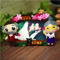 Shipping handshold lovers photo fun to buy DIY nonwoven cloth hand material package free cutting