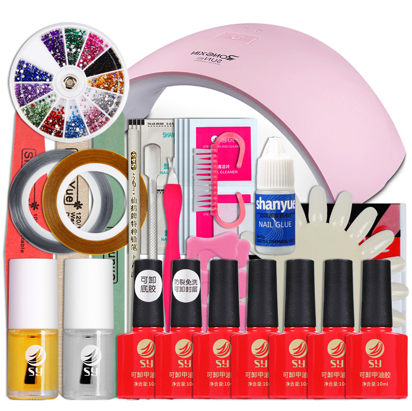 Nail kit, phototherapy machine, a full set of beginner, beginner shop, nail glue, nail sticker, Manicure Set