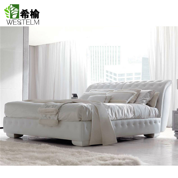Xi Yu high-end custom solid wood bedroom furniture cotton fabric 1.5/1.8 meters double bed bed LAPO4
