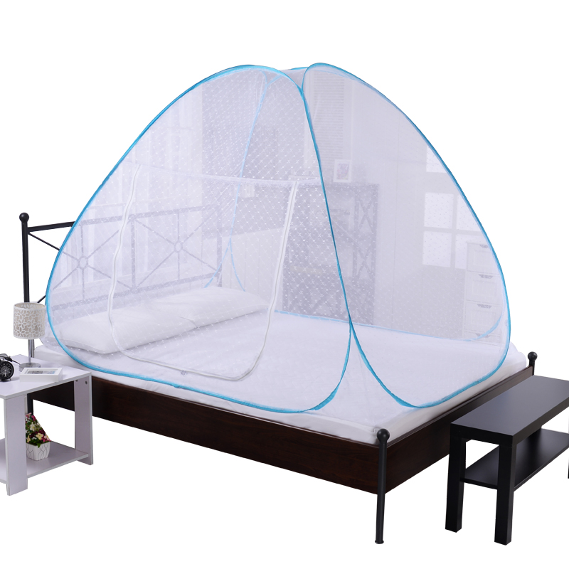 Bedspread, long and high air conditioner stainless steel bracket, large size free installation of Mongolia wrapped mosquito net bed frame, lifting mosquito net Palace