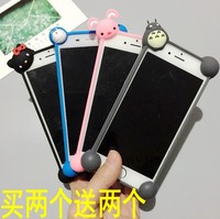 Wrapping angle of four apple Android domestic mobile phone strap silicone universal leather frame