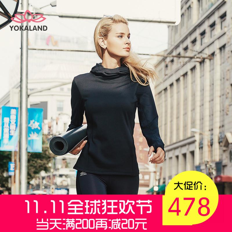 подлинные преимущества 卡莲 йога одежда мягкие удобные теплую футболку пальто VJW022 бегать водолазка фитнес - йога