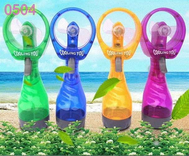 Holding mini mini fan, creative humidifier, charging pool, hand spray, water jet mute student dormitory