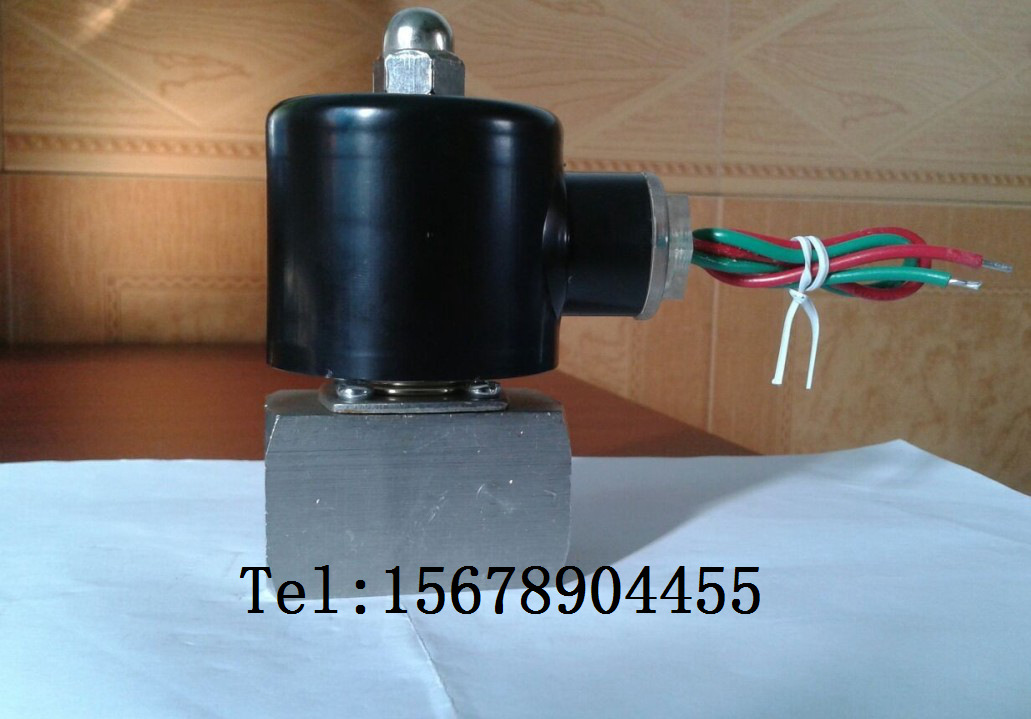 All stainless steel anti-corrosion solenoid valve ZCT-6 body 4 points interface, high temperature 150 degree steam weak acid weak base