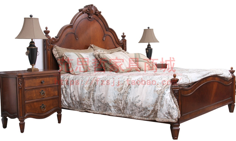 Star Furniture genuine luxury solid wood bed Fansi American bed 1.8 meters double bed 3013 - 111 - 112