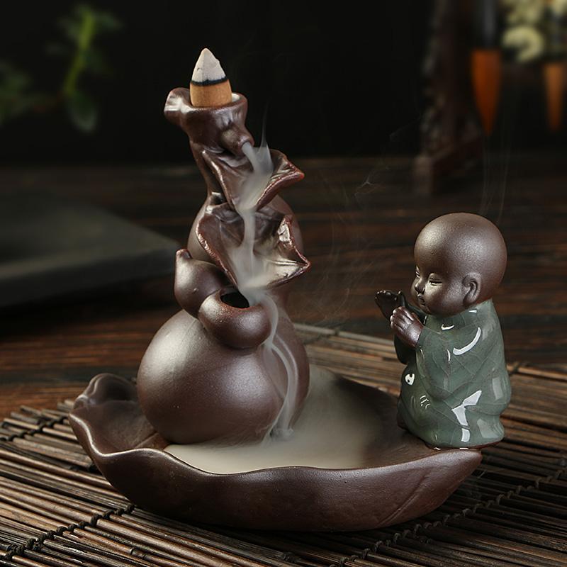 Ge вспять кадило керамики творческих аромат сандалового дерева печь печь ретро башни благовония, питомца подарок украшения дома чай