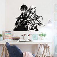 Sword domain of God 9 cartoon wall stickers stickers stickers game animation glass window stickers stickers switch