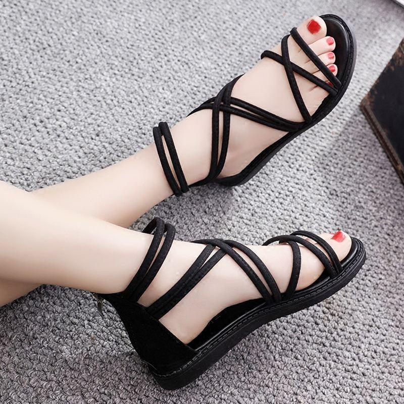 罗马凉鞋女夏平底学生