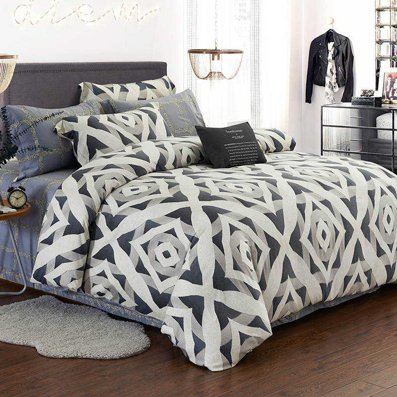 Comfortable brand's authentic cotton Tencel sanded bed four pieces of cotton twill 1.8m1.5m double bed