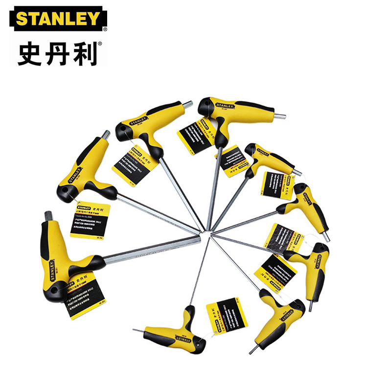 Six STANLEY 94-343-23 wrench imported alloy steel flat metric type T inner six angle wrench