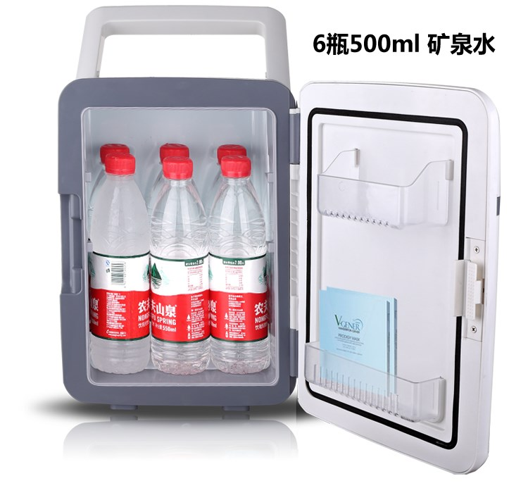Rui Kang 10L car refrigerator, car home dual-use dormitory, small household cooling and heating device, mini refrigerator refrigeration
