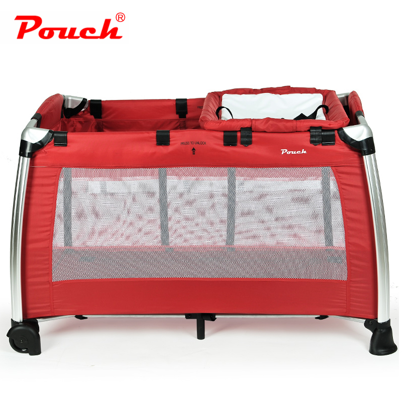 Pouch携帯折りたたみベッド児童のアルミニウム合金のベッド赤ちゃんのゲームベッドの多機能H13 bbベッド