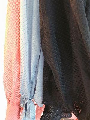 出口美国 小众 植绒 飘带 袖口绑带 长袖衬衫原单