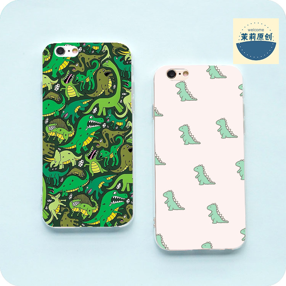 Jin F100F103F105M5plus mobile phone shell soft simple small dinosaur lovers