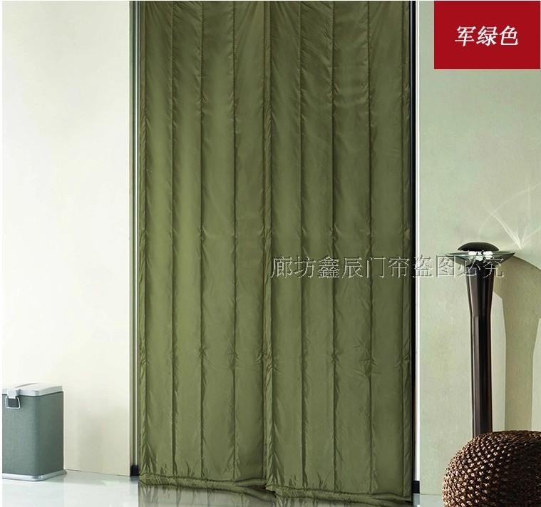 Custom made cotton door curtain, canvas door curtain for household air conditioner, thickening insulation cold store door curtain, sound insulation waterproof and windproof