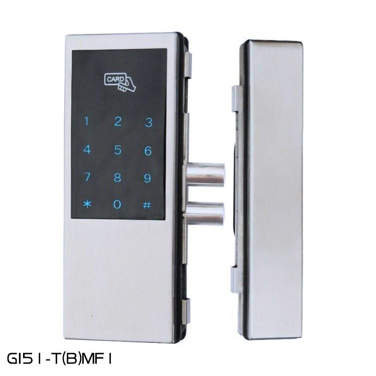 Libre abre la doble puerta de vidrio agujero una contraseña de inducción código electrónico de vidrio templado de la puerta de control remoto
