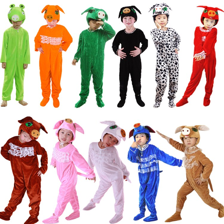 The new Halloween Dance children animal costumes costumes clothing white boar pig pig costumes