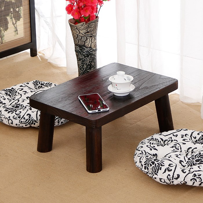 Solid wood bed tatami table small square table table table table household windows platform imitation ancient science small Kang Table table