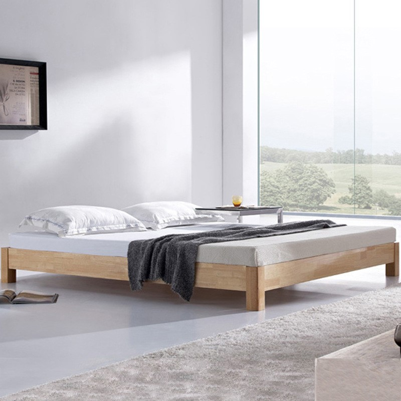 The Japanese tatami wood bed bed bed 1.5 meters short simple shelf 1.8 double bed bed without order
