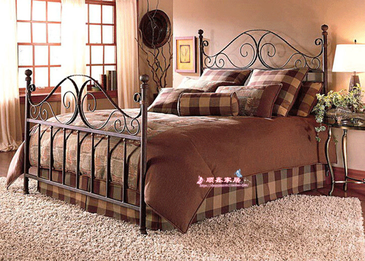 1.5 meters 1.2 meters iron bed double bed bed bed bed board European iron reinforcement double 1.8 meters